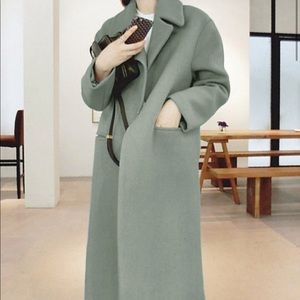 Jackets & Blazers - Green color Korean style coat